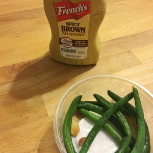 green beans and mustard