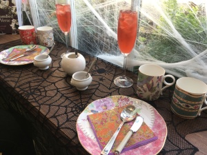 high tea set up